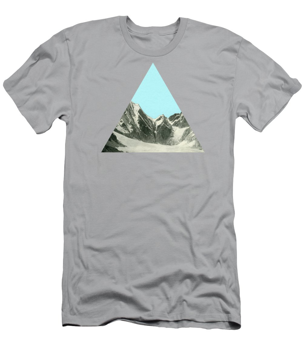 Mountains Men's T-Shirt (Athletic Fit) featuring the mixed media Blue Skies by Cassia Beck