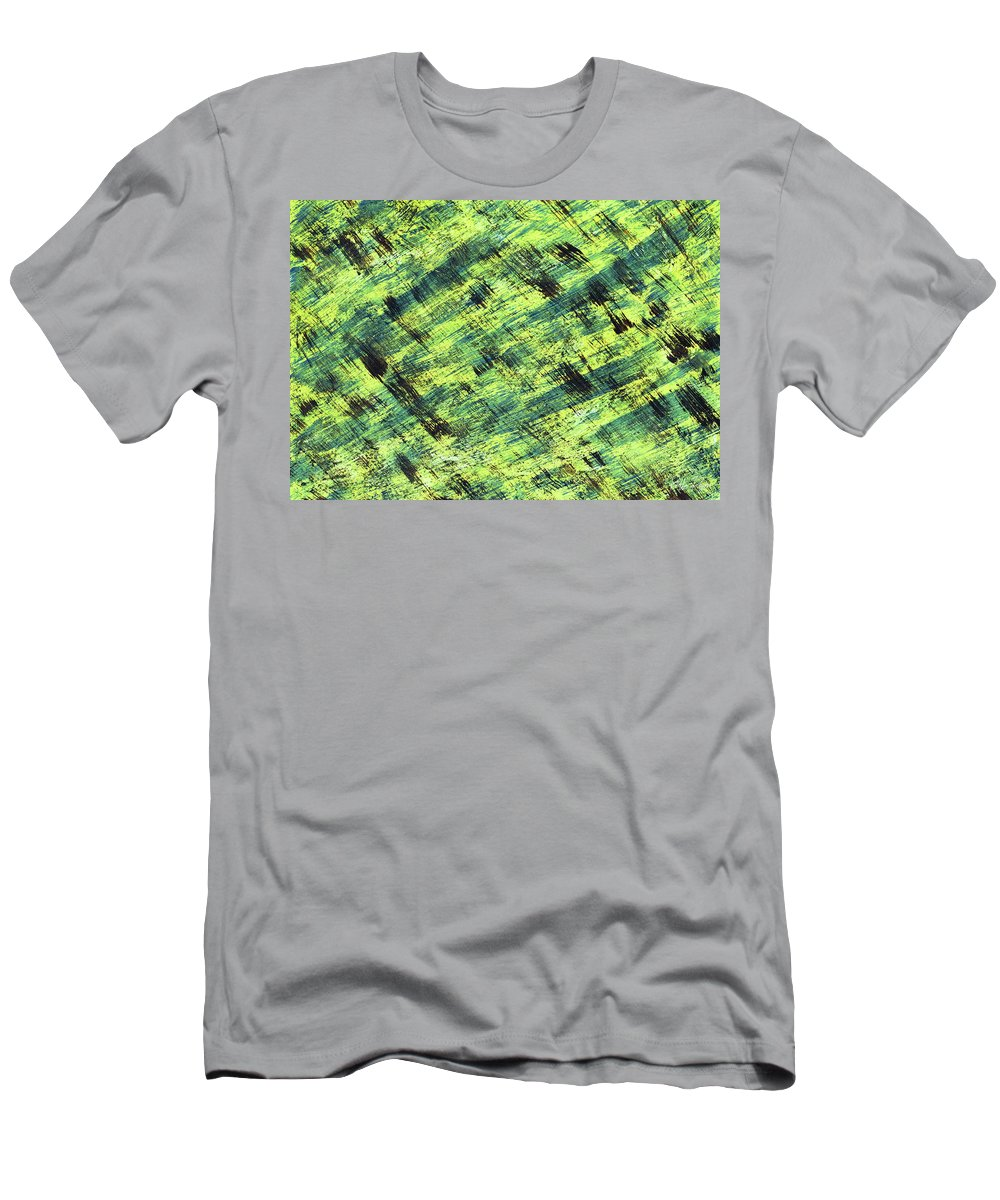 Abstract Men's T-Shirt (Athletic Fit) featuring the painting Cautious by Bella Reyna