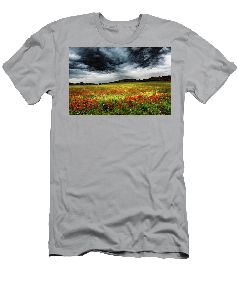 Nature T-Shirt featuring the photograph Colorful Fields 1 by Vicente Sargues