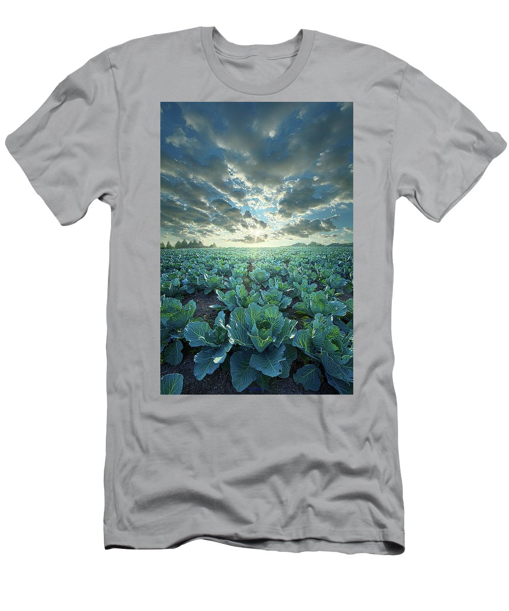 Wisconsin Horizons By Phil Koch Men's T-Shirt (Athletic Fit) featuring the photograph Dressed Up In Green by Phil Koch