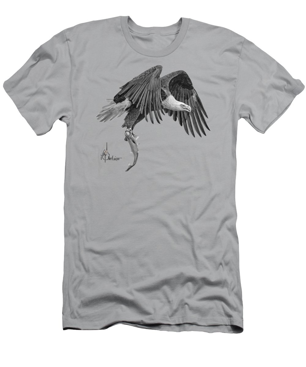 Drawing T-Shirt featuring the drawing Eagle drawing by Murphy Elliott