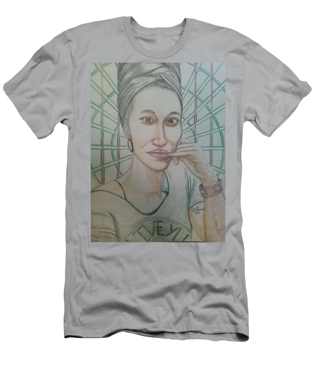Drawing On Paper T-Shirt featuring the drawing Emst by Andrew Johnson