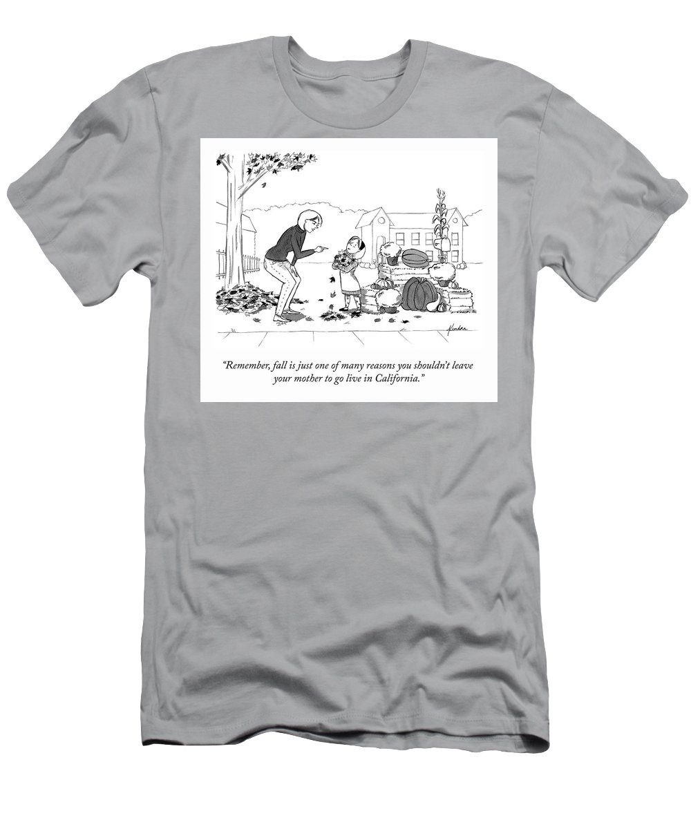 """remember T-Shirt featuring the drawing Fall Is One Of Many Reasons by Kendra Allenby"