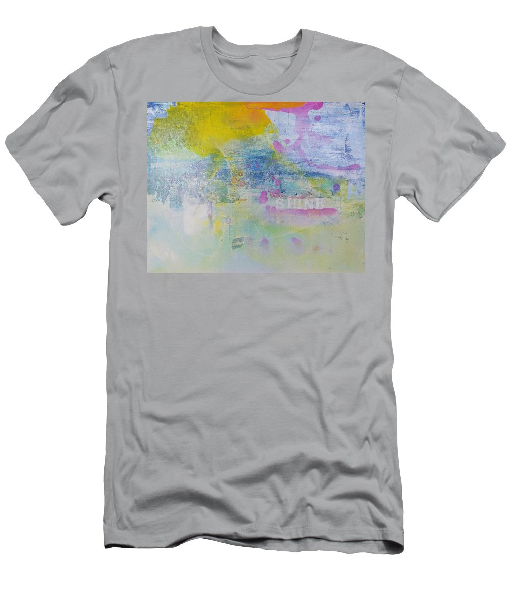 Acrylic Men's T-Shirt (Athletic Fit) featuring the painting Fill The World With Sunshine by A Bacia
