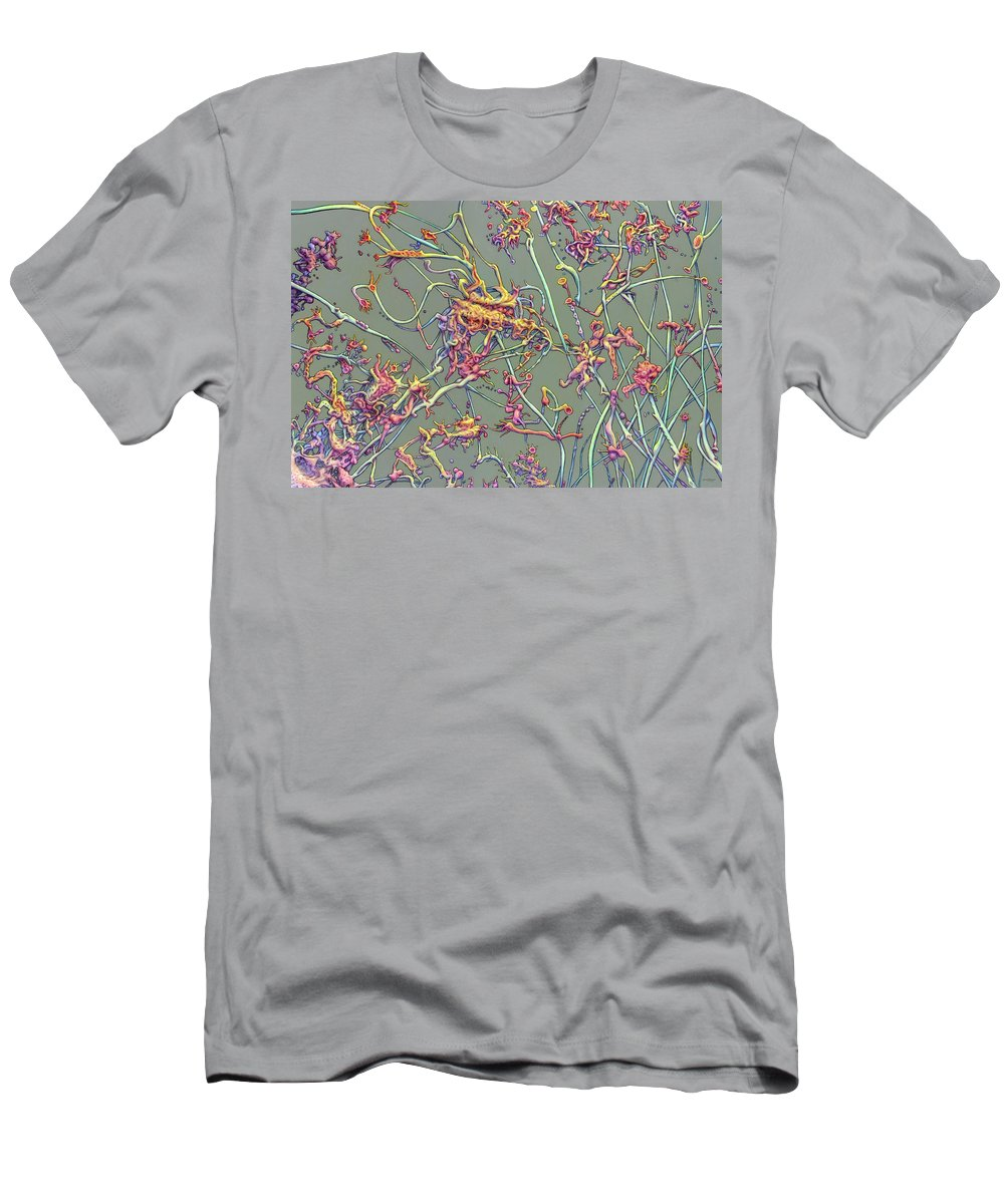 Growth Men's T-Shirt (Athletic Fit) featuring the painting Growth by James W Johnson
