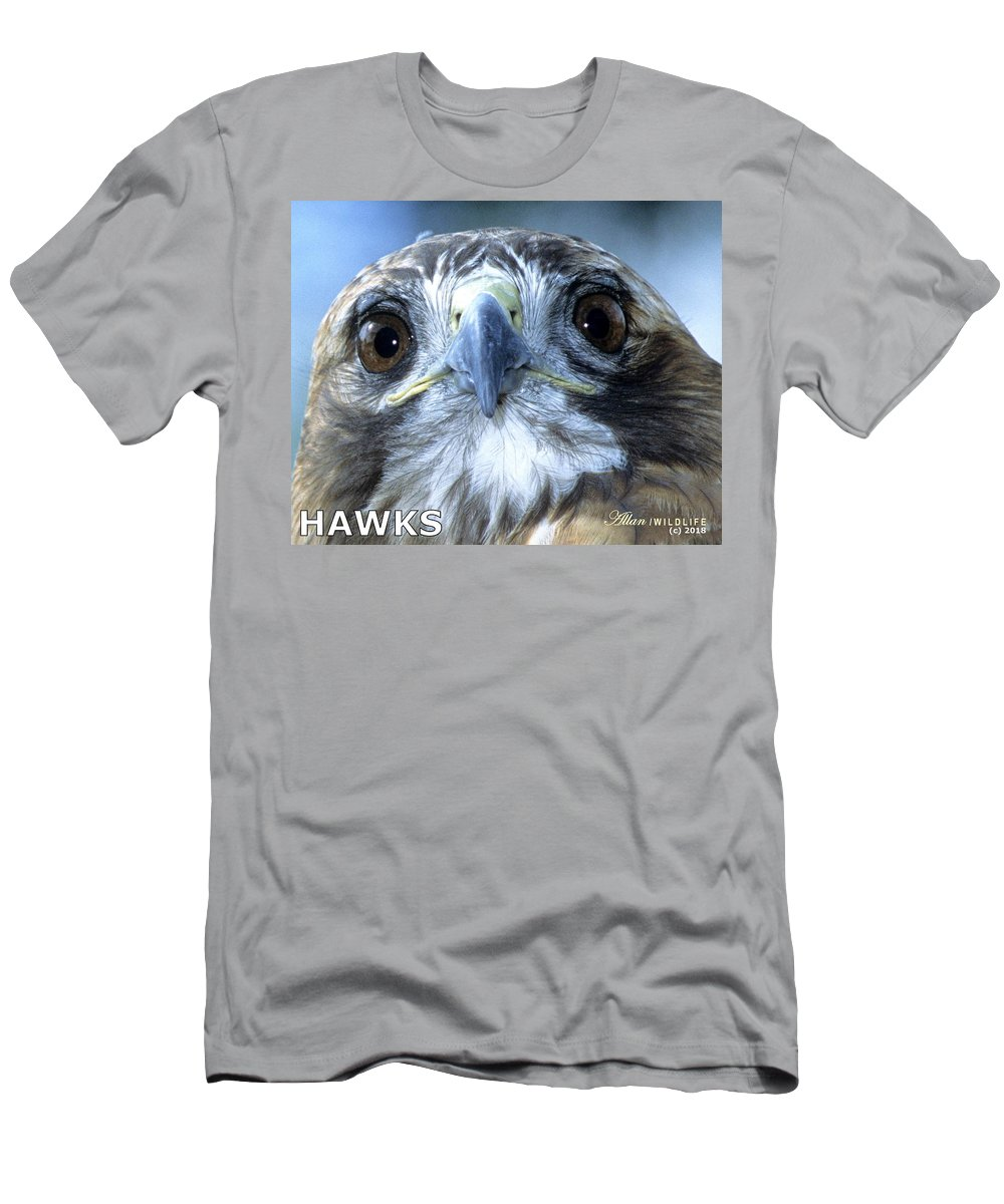 Hawks Men's T-Shirt (Athletic Fit) featuring the photograph Hawks Mascot by Larry Allan
