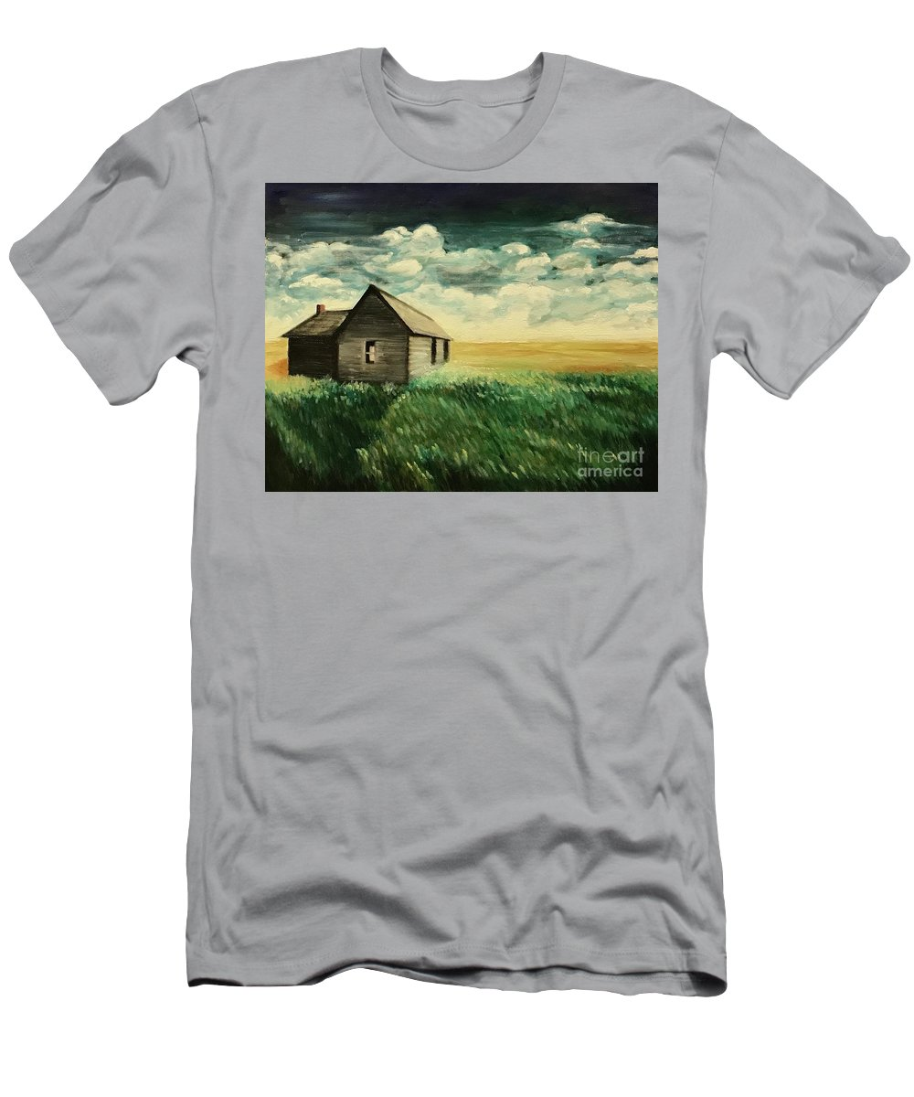 Oil Painting Men's T-Shirt (Athletic Fit) featuring the painting Homestead by Boni Arendt