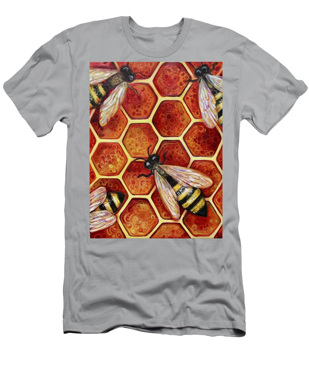 Bees T-Shirt featuring the painting Honey Bees by Kate Fortin