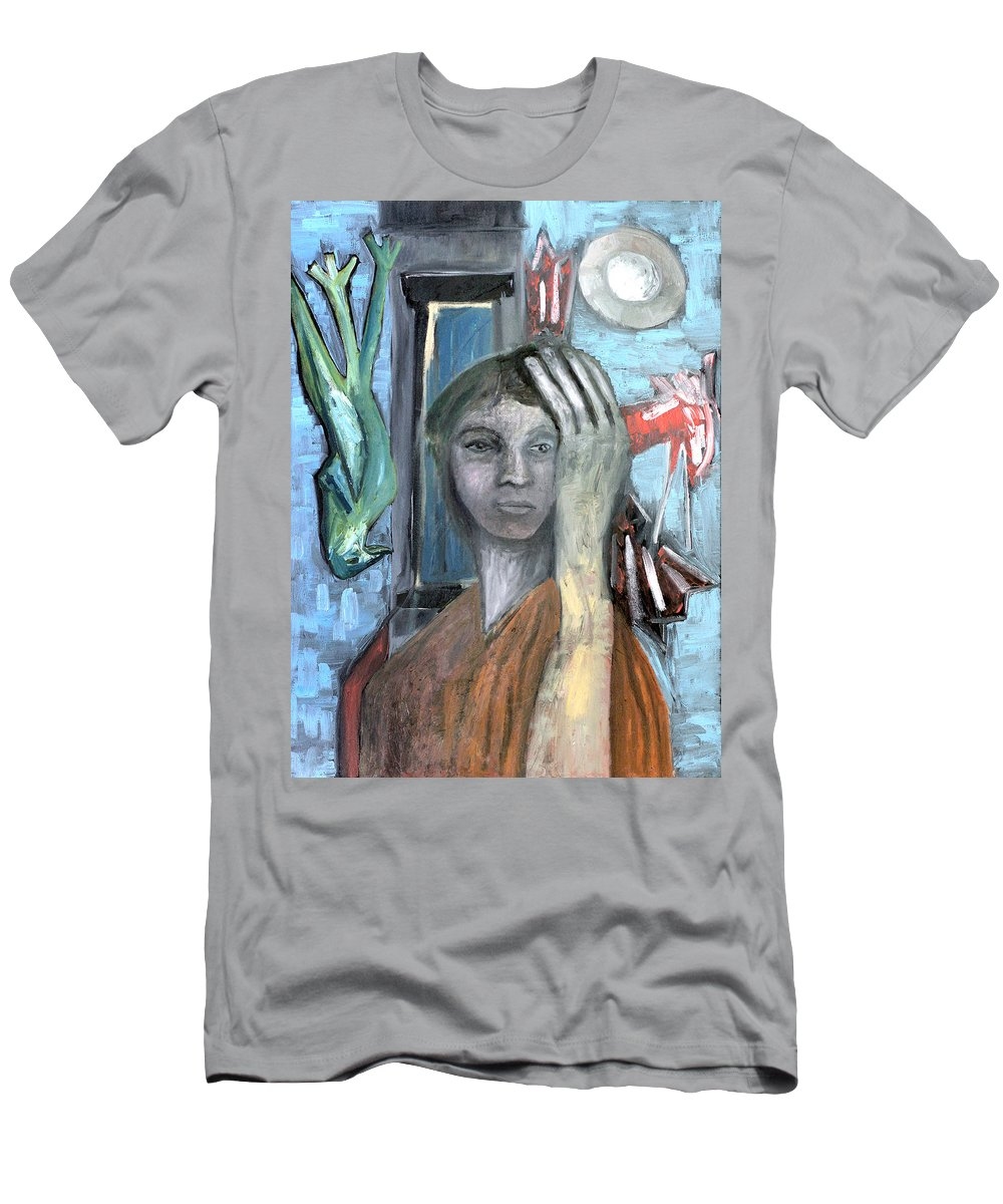 Hotel Men's T-Shirt (Athletic Fit) featuring the painting Hotel Scene by Artist Dot