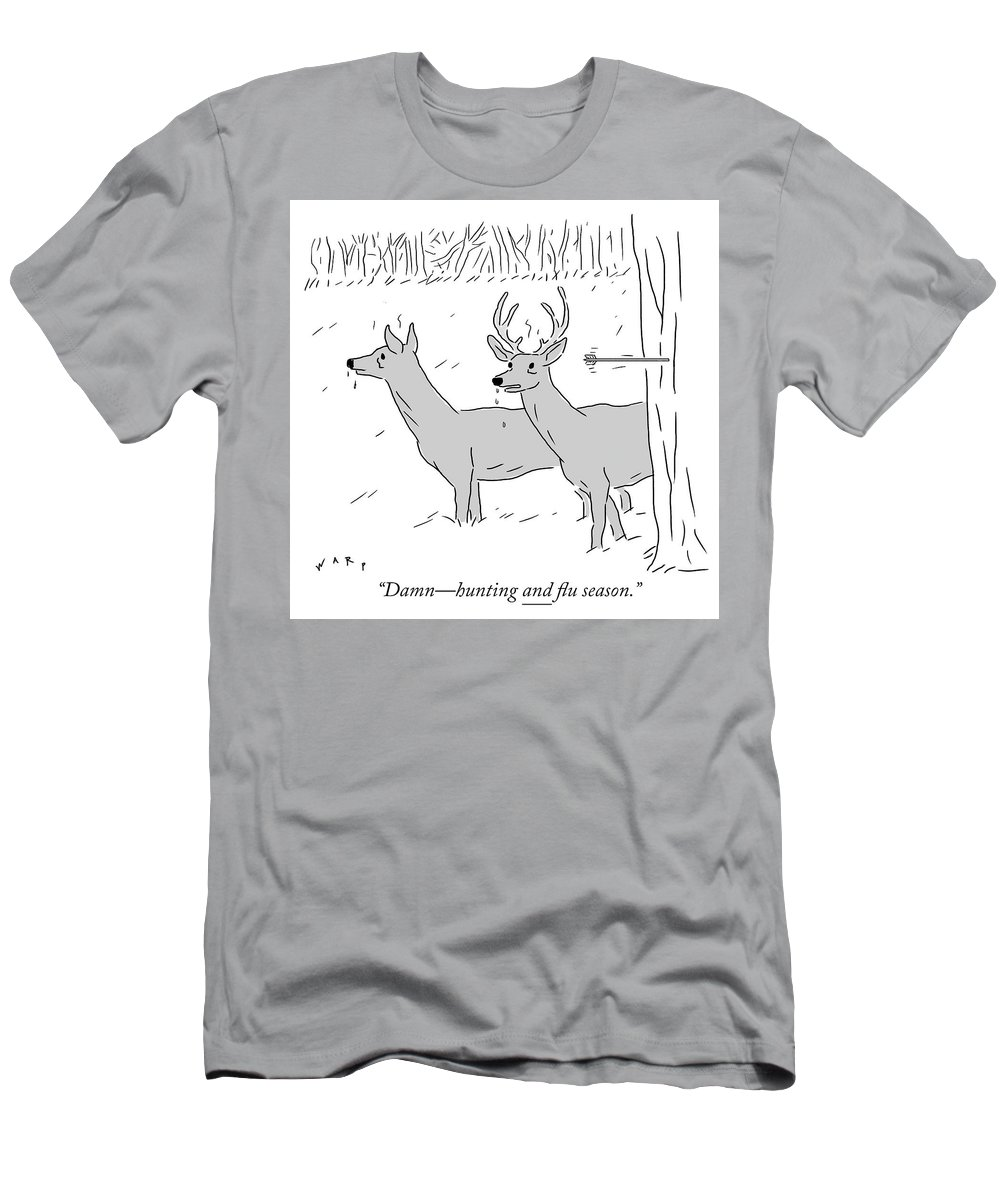 """""""damn—hunting And Flu Season."""" Men's T-Shirt (Athletic Fit) featuring the photograph Hunting And Flu Season by Kim Warp"""