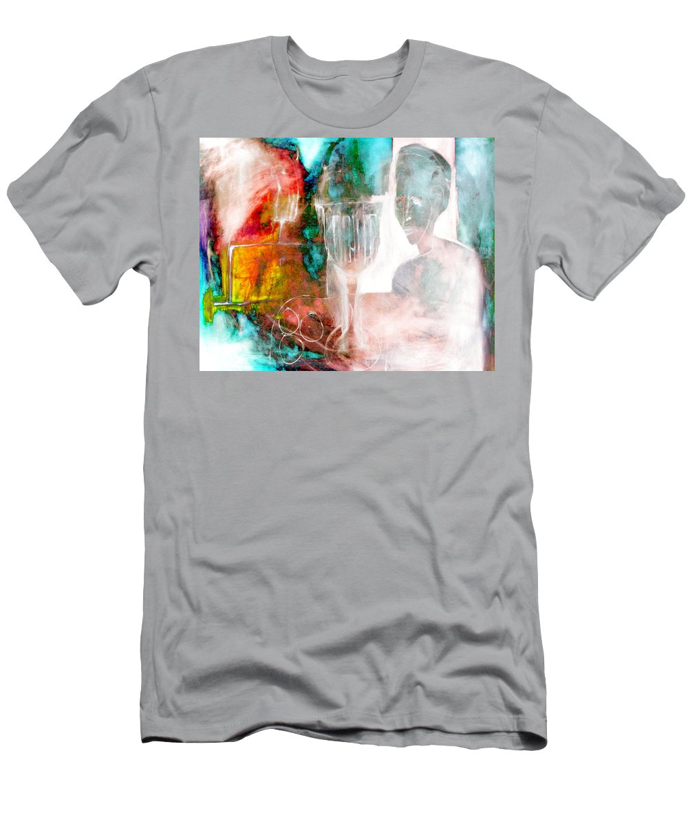 Restaurant Men's T-Shirt (Athletic Fit) featuring the digital art In A Restaurant by Artist Dot