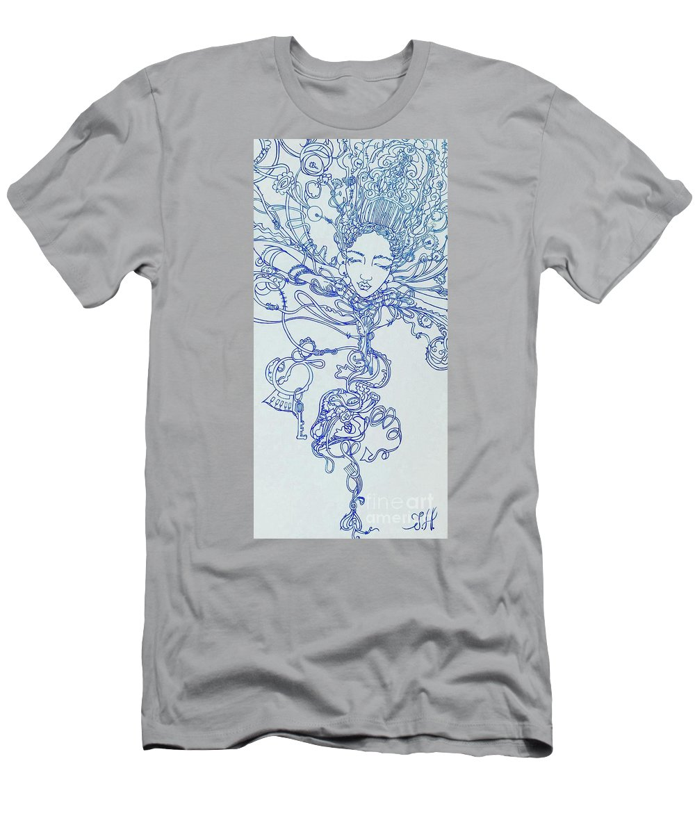 T-Shirt featuring the painting Keys To The Garden by Judy Henninger