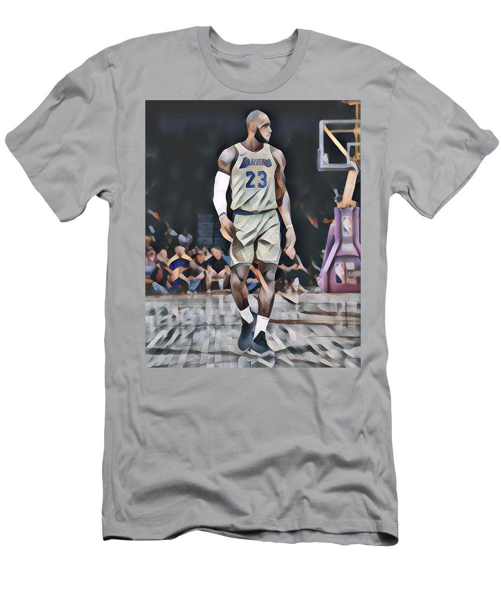 d137055e952d Lebron James Los Angeles Lakers Abstract Art 2 T-Shirt for Sale by Joe  Hamilton
