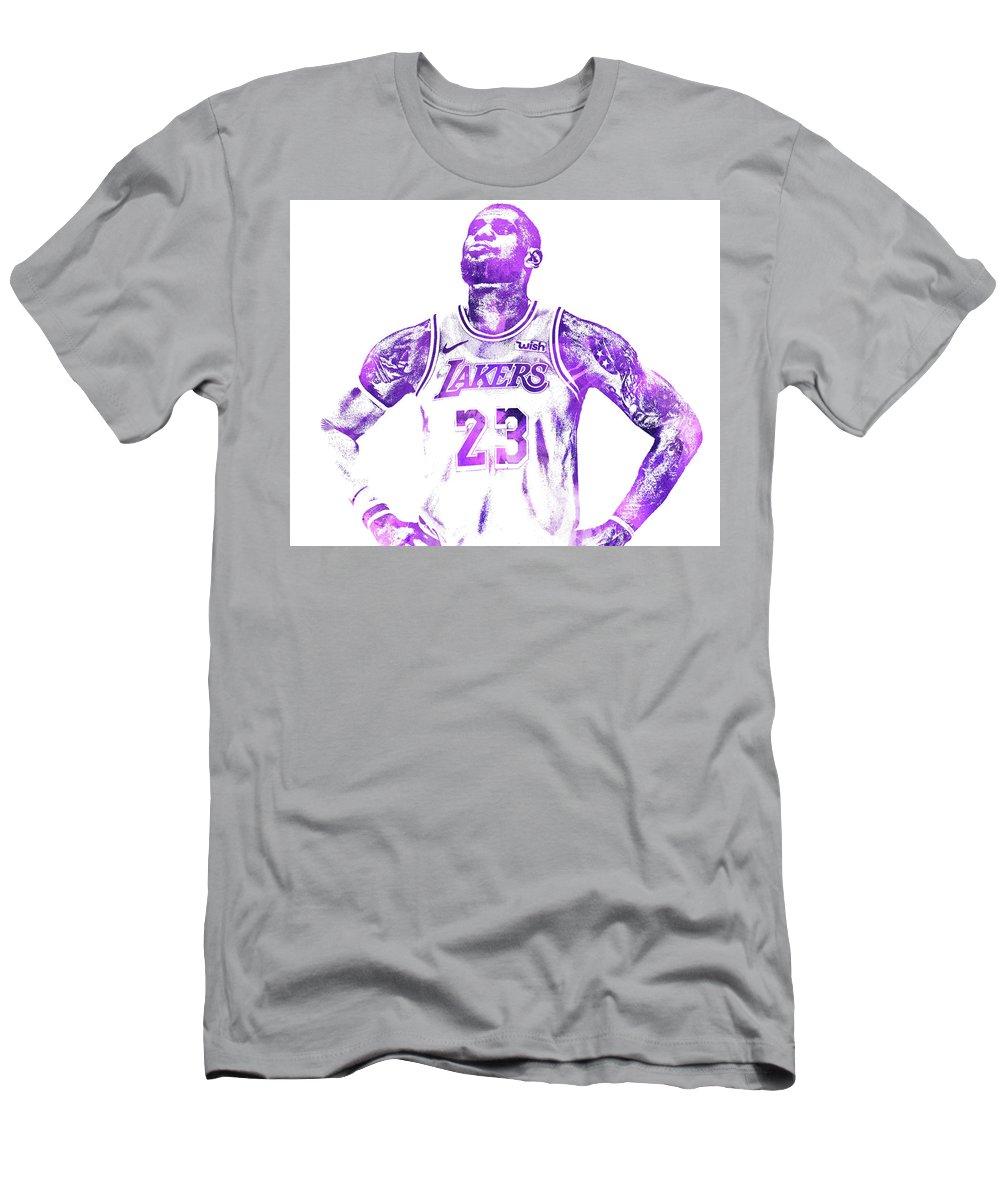 a47889b470f Lebron James Los Angeles Lakers Water Color Pixel Art 30 T-Shirt for Sale  by Joe Hamilton