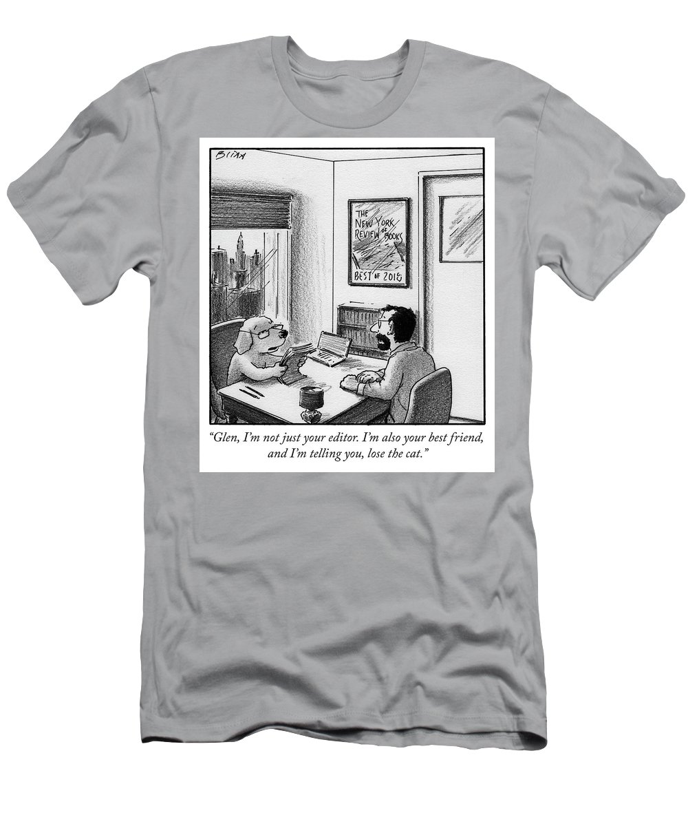 """""""glen T-Shirt featuring the drawing Lose the cat by Harry Bliss"""