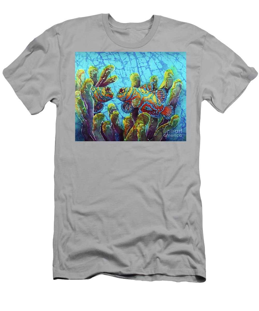Mandarinfish T-Shirt featuring the painting Mandarinfish by Sue Duda
