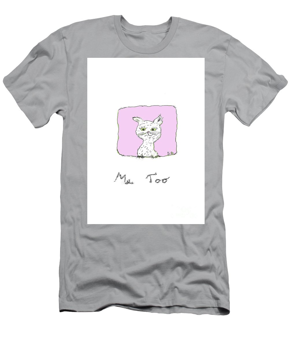 Cat Men's T-Shirt (Athletic Fit) featuring the digital art Me Too Cat II by Elisabet Bondesson