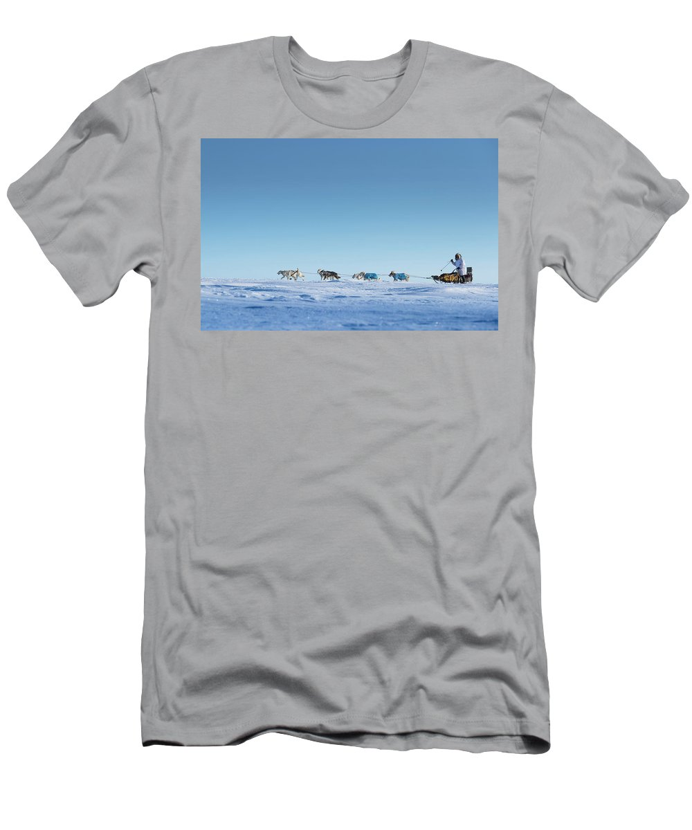Alaska Men's T-Shirt (Athletic Fit) featuring the photograph Mushing Alaska by Scott Slone