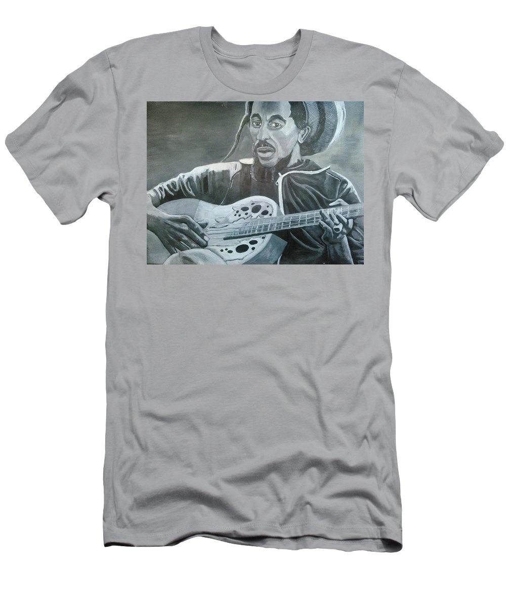 Bob Marley Painting T-Shirt featuring the painting Musical Man by Andrew Johnson
