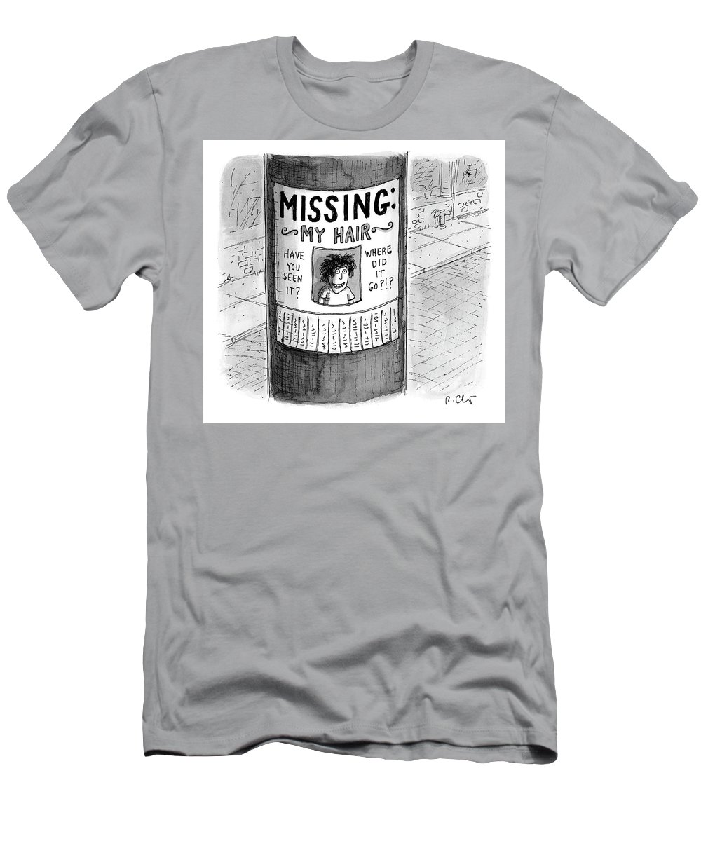 Hair Loss T-Shirt featuring the drawing My Hair by Roz Chast
