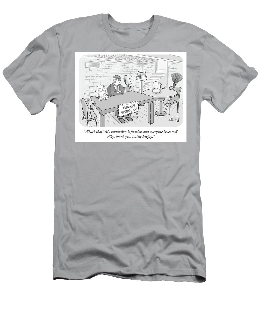 Even More Supreme Court Men's T-Shirt (Athletic Fit) featuring the drawing My Reputation Is Flawless by Ellis Rosen