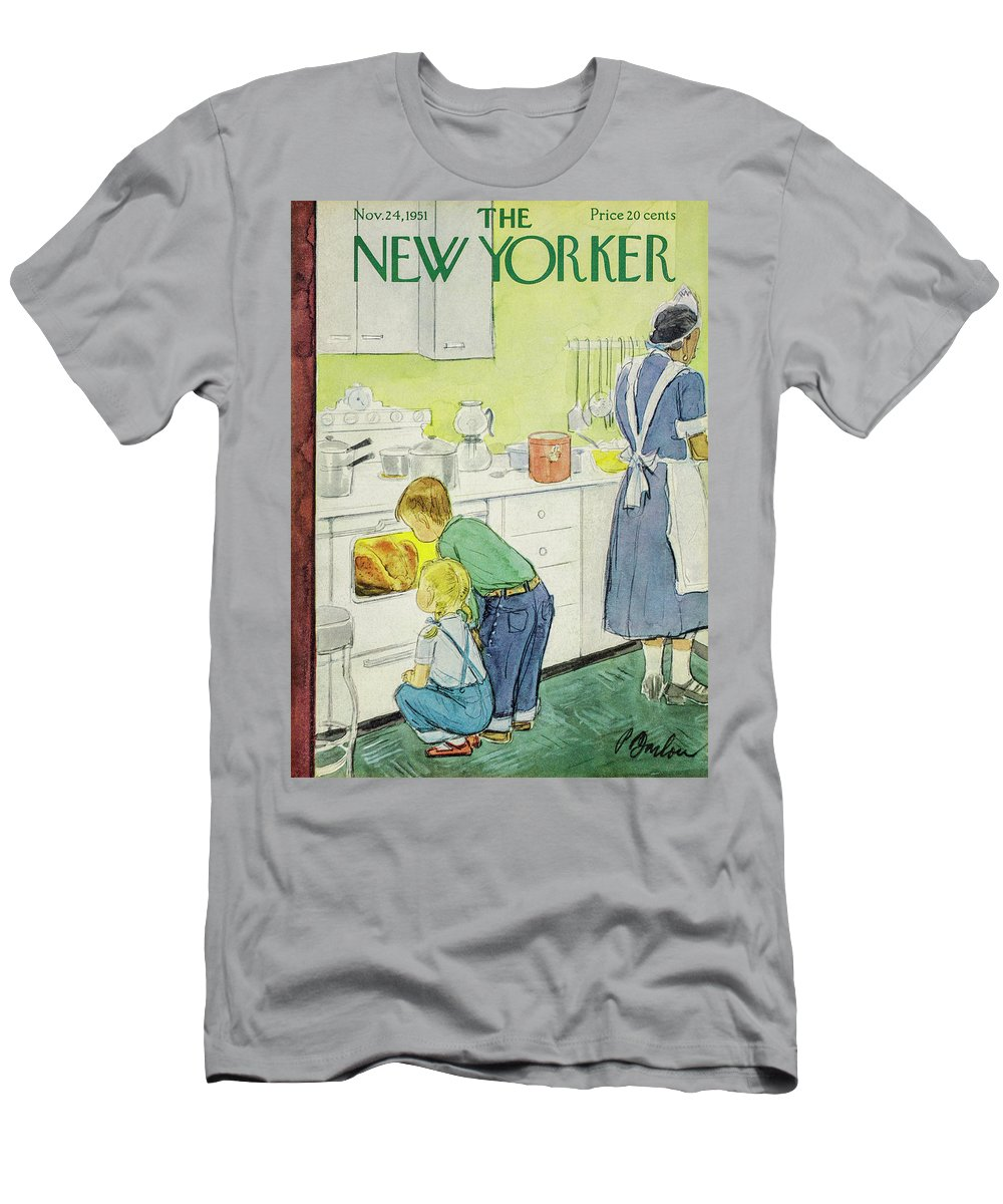 Perry Barlow Pba T-Shirt featuring the painting New Yorker November 24, 1951 by Perry Barlow