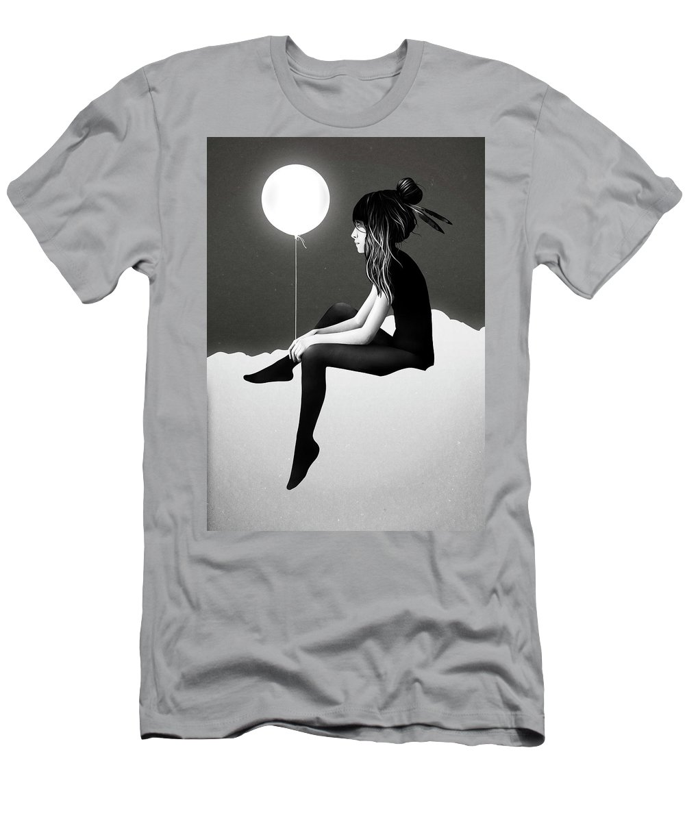 Girl T-Shirt featuring the mixed media No Such Thing As Nothing By Night by Ruben Ireland