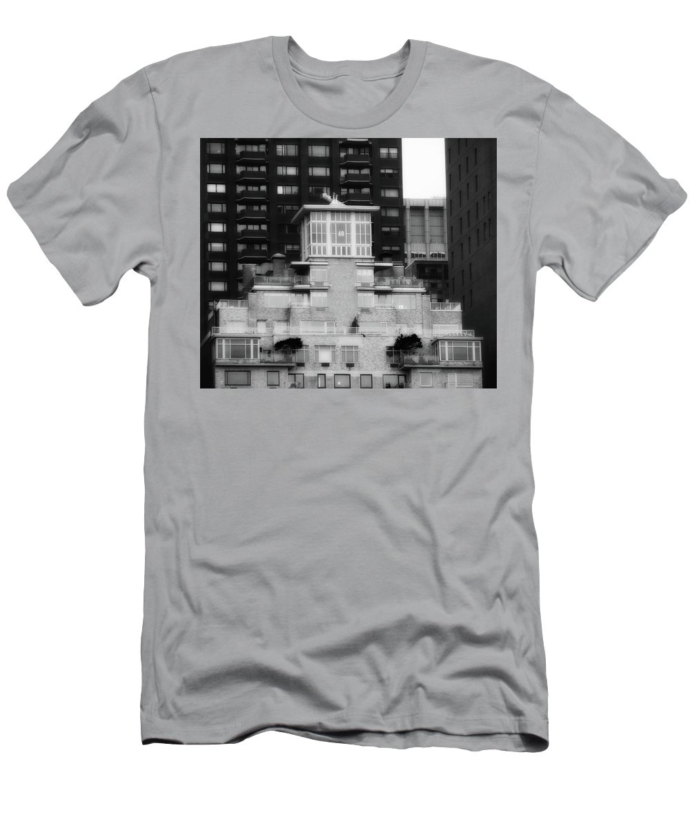 New York City Men's T-Shirt (Athletic Fit) featuring the digital art Nyc In Black And White Xiii by Tina Baxter
