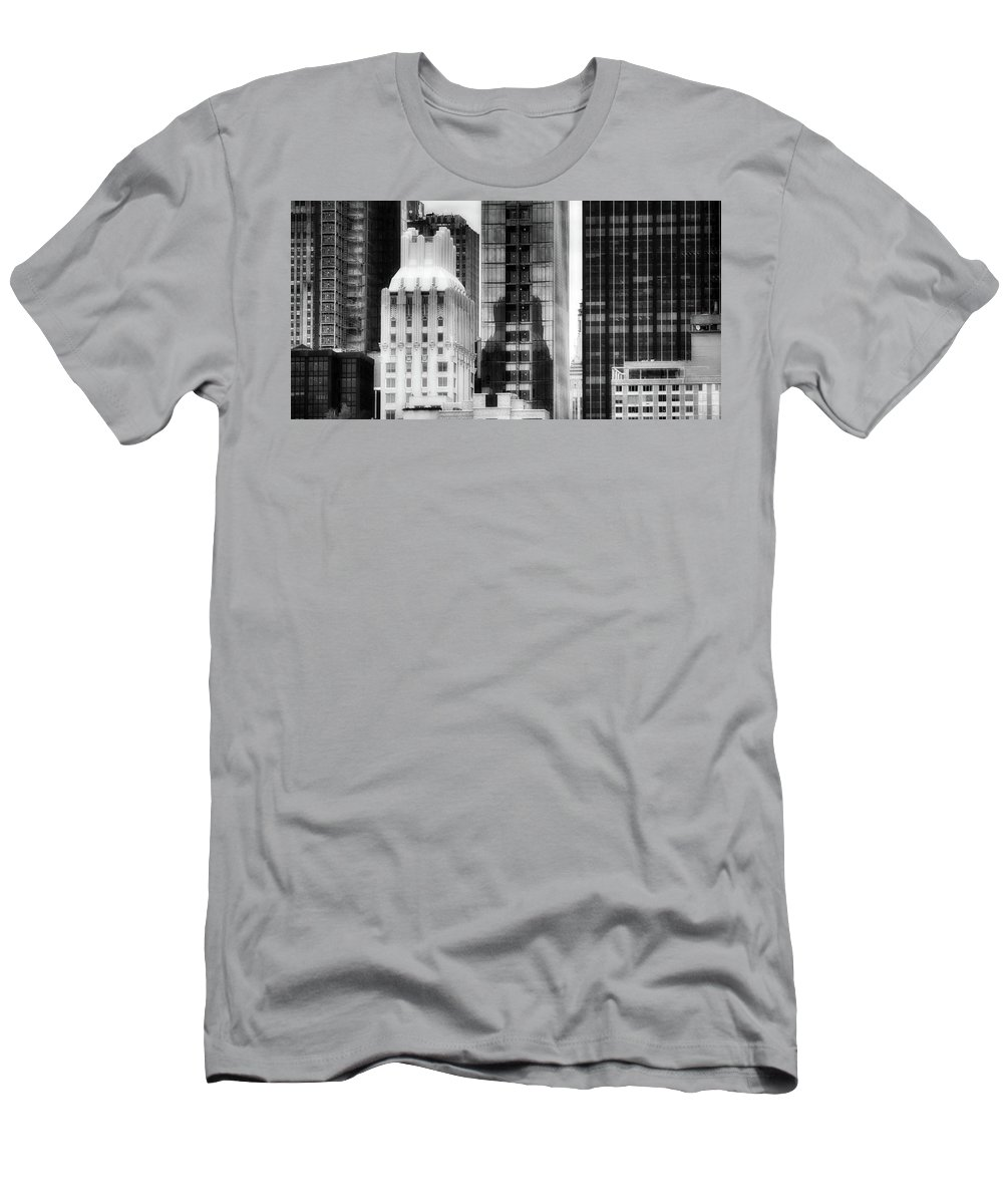 New York City Men's T-Shirt (Athletic Fit) featuring the photograph Nyc In Black And White Xv by Tina Baxter