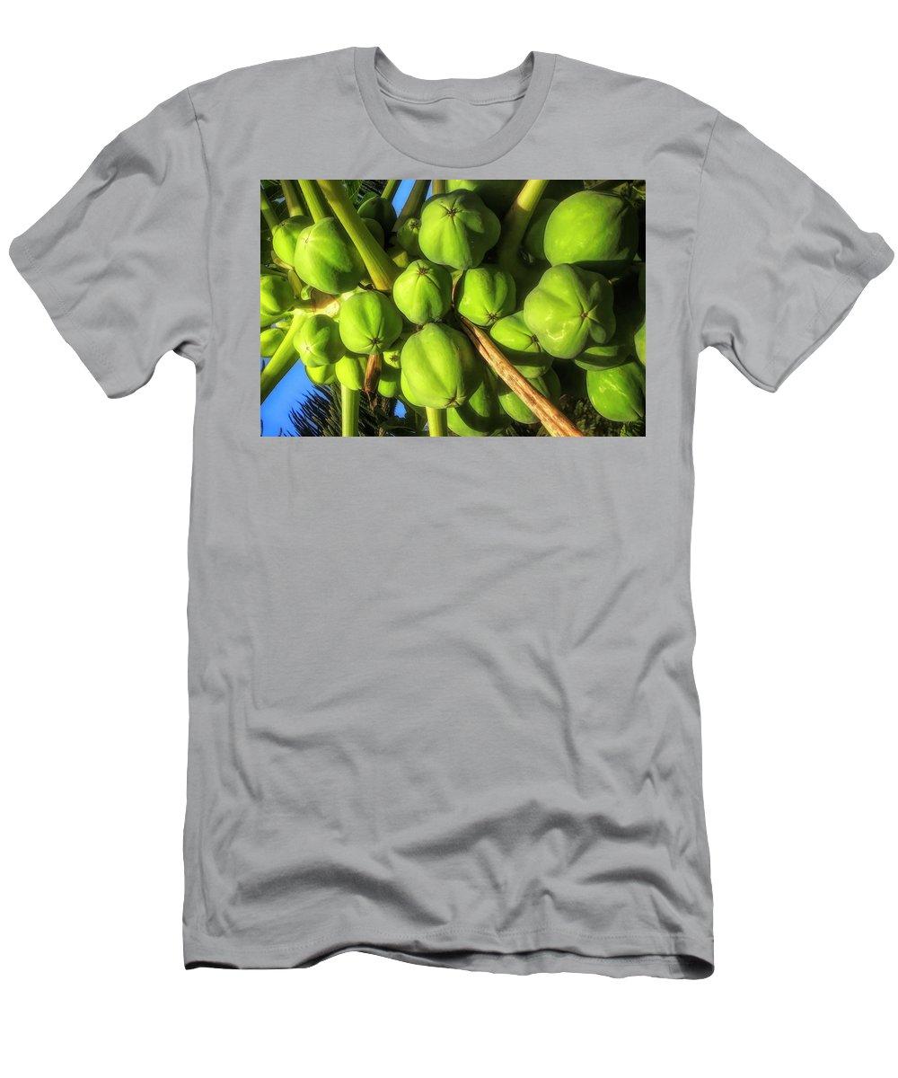 #papaya Men's T-Shirt (Athletic Fit) featuring the photograph Papaya by Cornelia DeDona