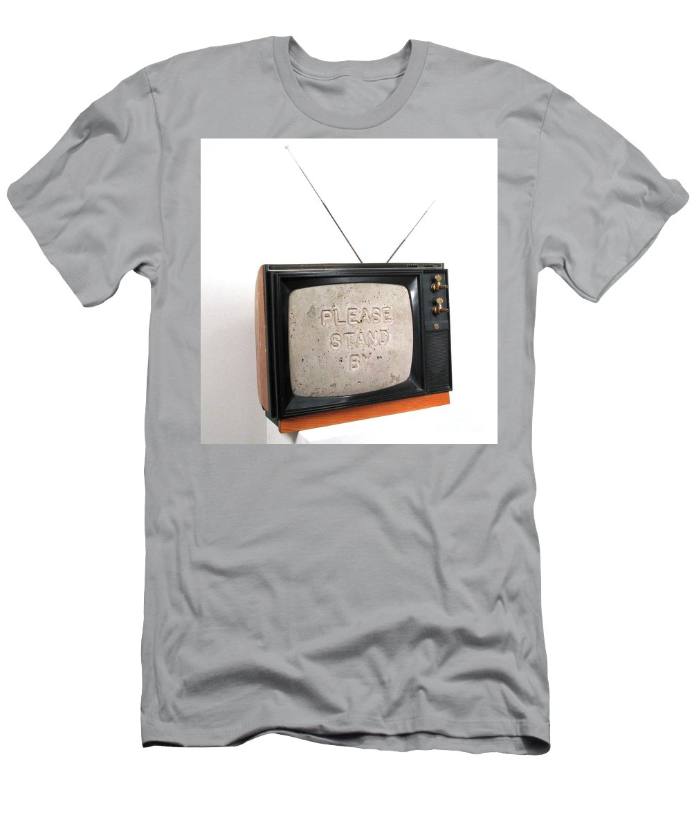 Czappa T-Shirt featuring the sculpture Please Stand by by Bill Czappa