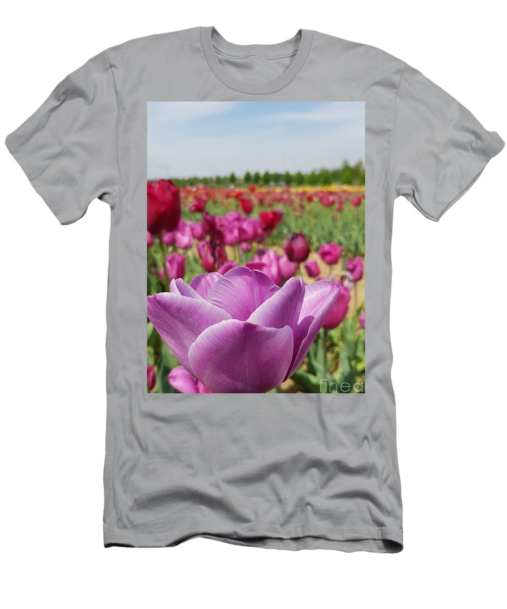 Tulip T-Shirt featuring the photograph Purple Tulip by Paola Baroni
