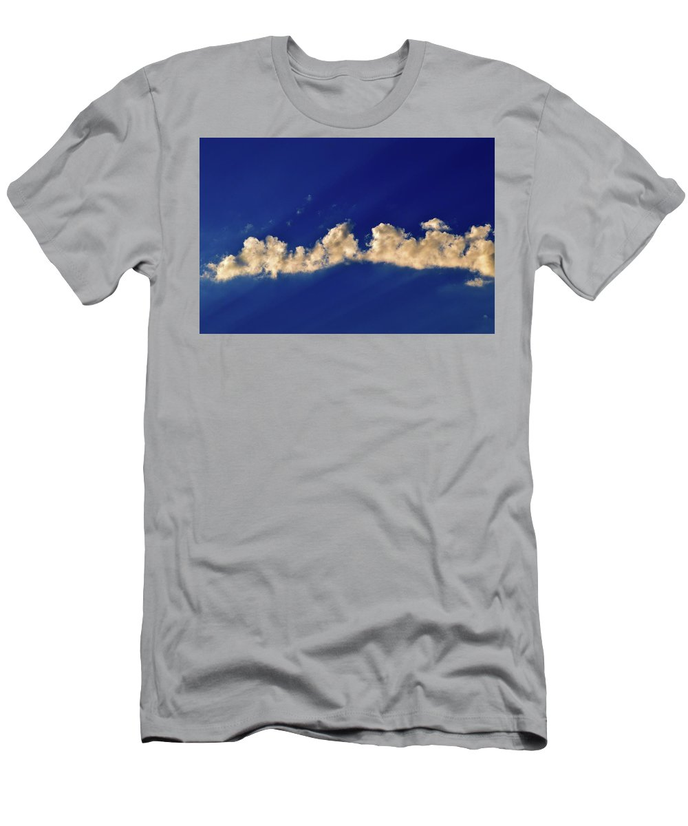 Abstract Men's T-Shirt (Athletic Fit) featuring the photograph Rays And Clouds by Lyle Crump