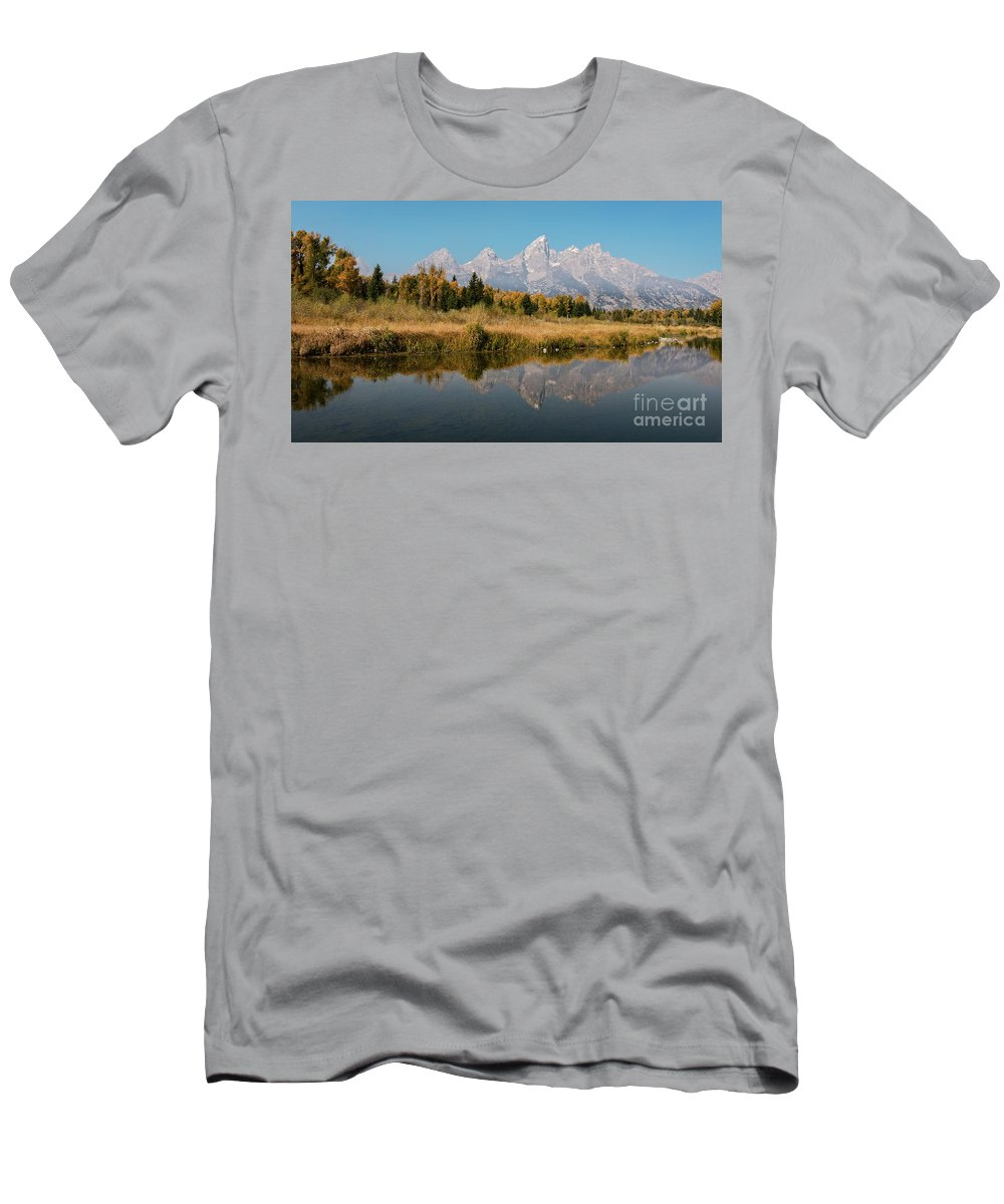 White Sands Men's T-Shirt (Athletic Fit) featuring the photograph Schwabacher's Landing by Doug Sturgess