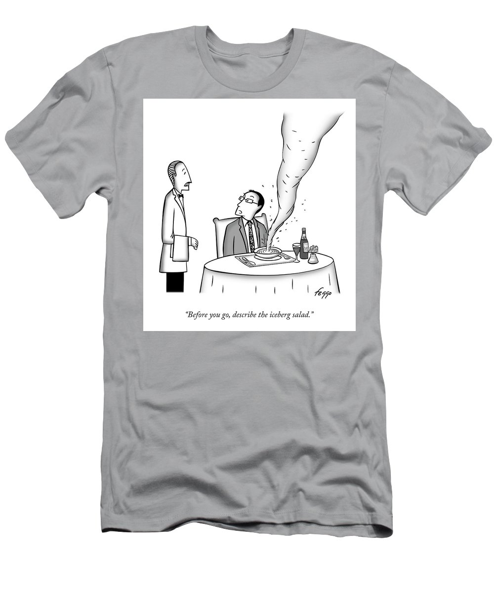Before You Go T-Shirt featuring the drawing Soup Tornado by Felipe Galindo