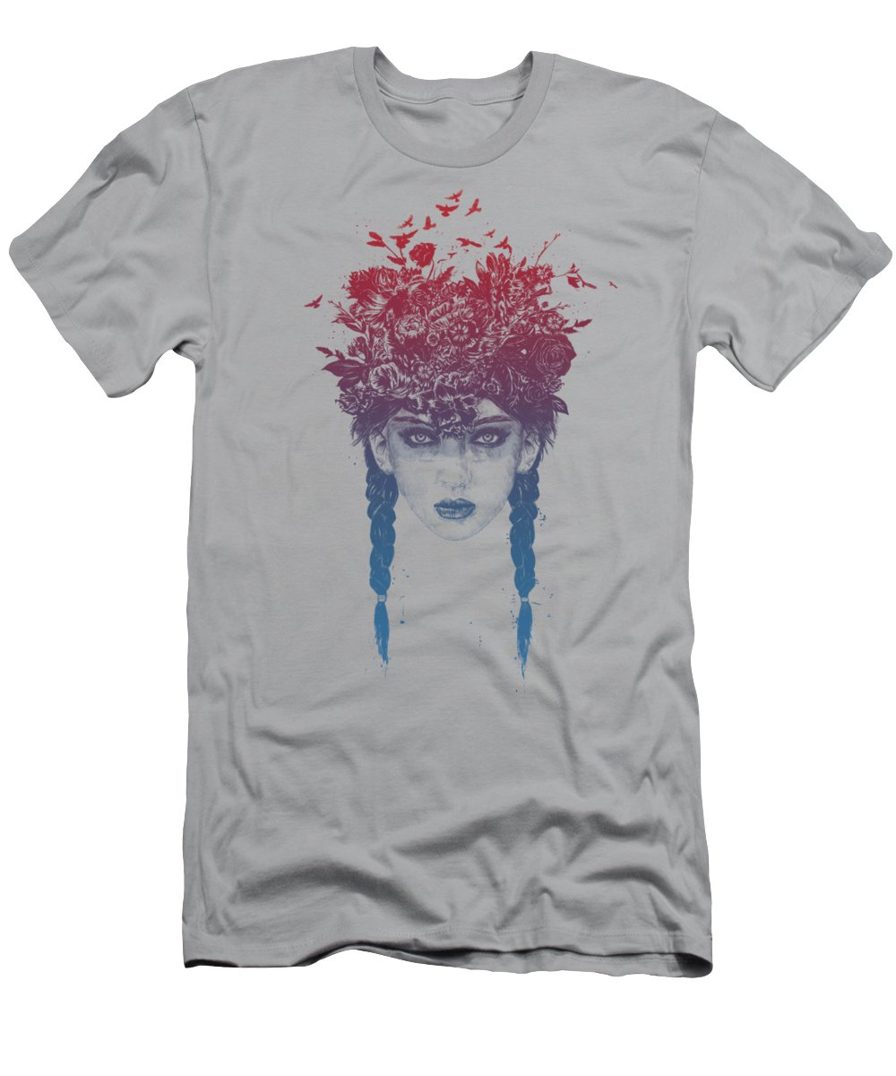 Girl Men's T-Shirt (Athletic Fit) featuring the mixed media Summer Queen by Balazs Solti