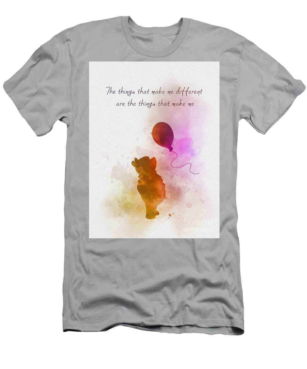 Winnie The Pooh T-Shirt featuring the mixed media The things that make me different by My Inspiration