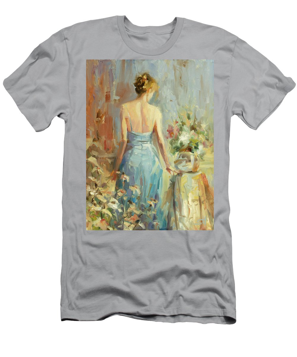 Woman T-Shirt featuring the painting Thoughtful by Steve Henderson