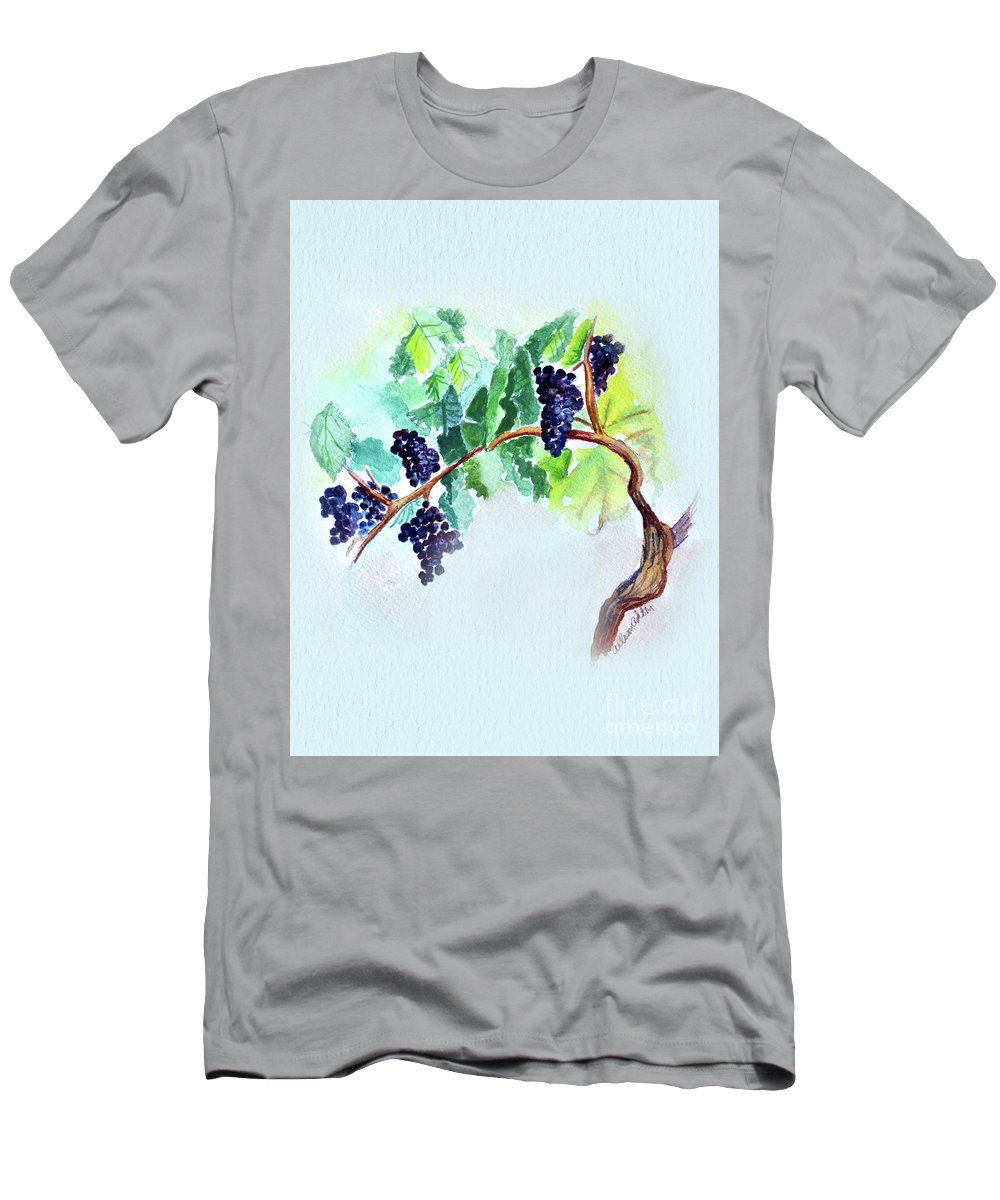 Vine Men's T-Shirt (Athletic Fit) featuring the painting Vine And Branch by Allison Ashton