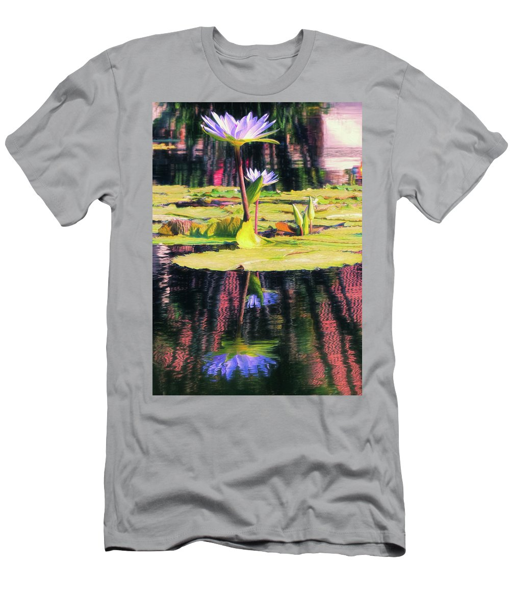 California Men's T-Shirt (Athletic Fit) featuring the photograph Water Lily 12 by Claude LeTien
