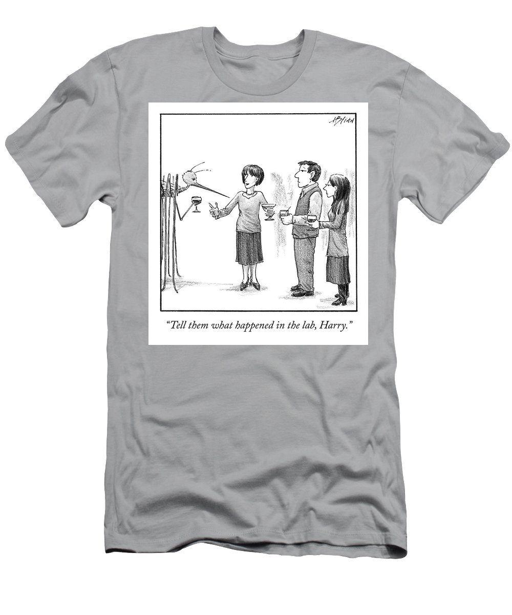 Cctk T-Shirt featuring the drawing What Happened in the Lab by Harry Bliss