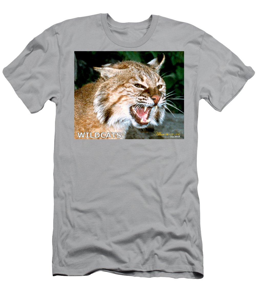 Wildcats Men's T-Shirt (Athletic Fit) featuring the photograph Wildcats Mascot 4 by Larry Allan