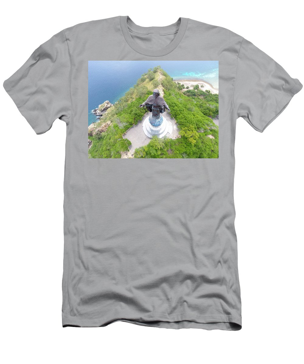 Travel T-Shirt featuring the photograph Cristo Rei of Dili statue of Jesus by Brthrjhn2099