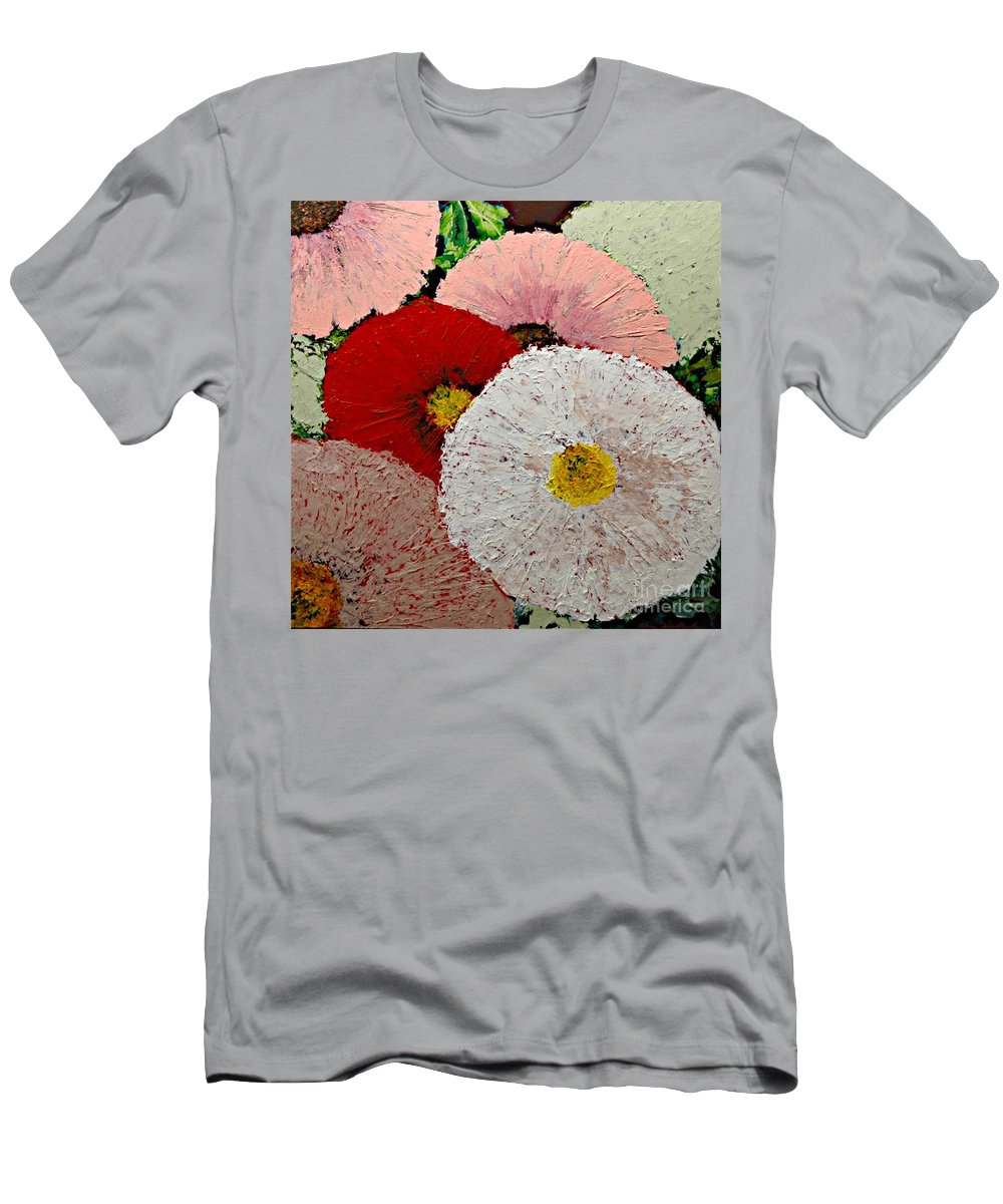 Landscape T-Shirt featuring the painting From the Garden by Allan P Friedlander