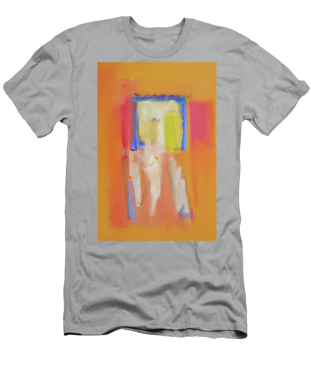 Yellow T-Shirt featuring the painting Figures In A Souk by Charles Stuart