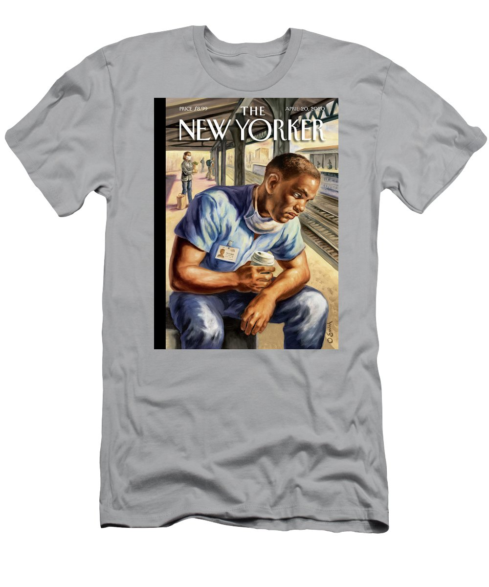 Health T-Shirt featuring the painting After The Shift by Owen Smith