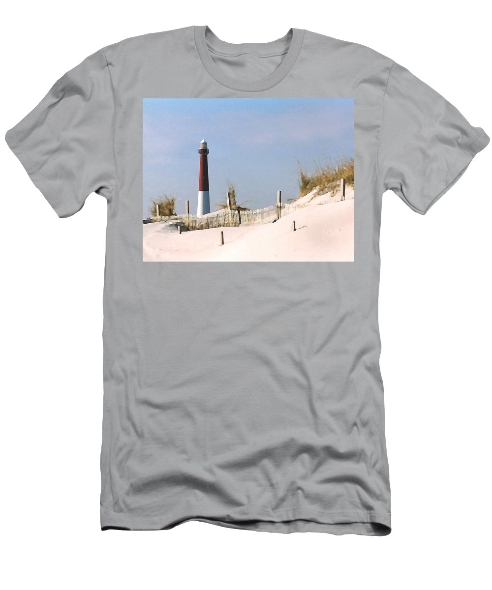 Barnegat T-Shirt featuring the photograph Barnegat Lighthouse by Steve Karol