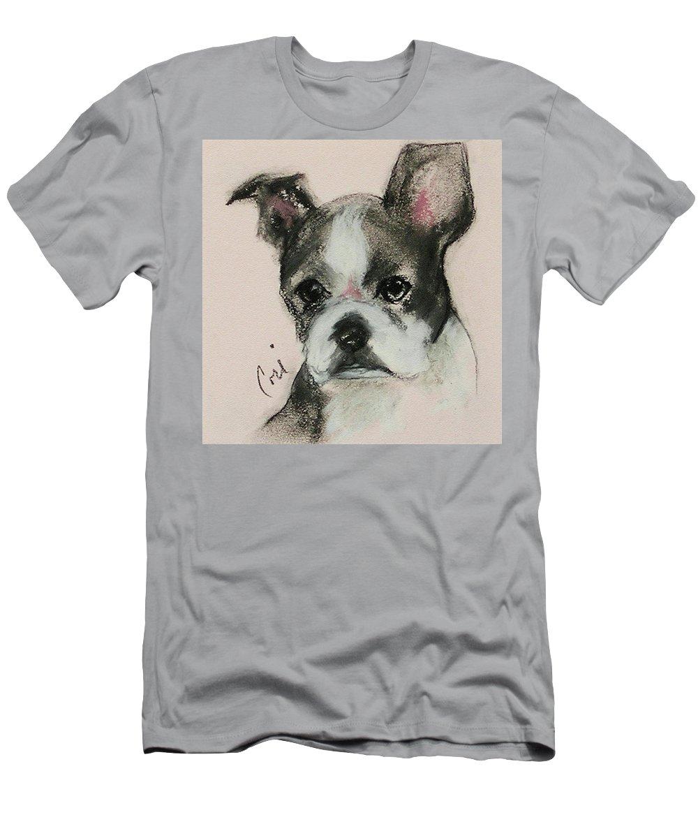 Pastel T-Shirt featuring the drawing Bostonian by Cori Solomon
