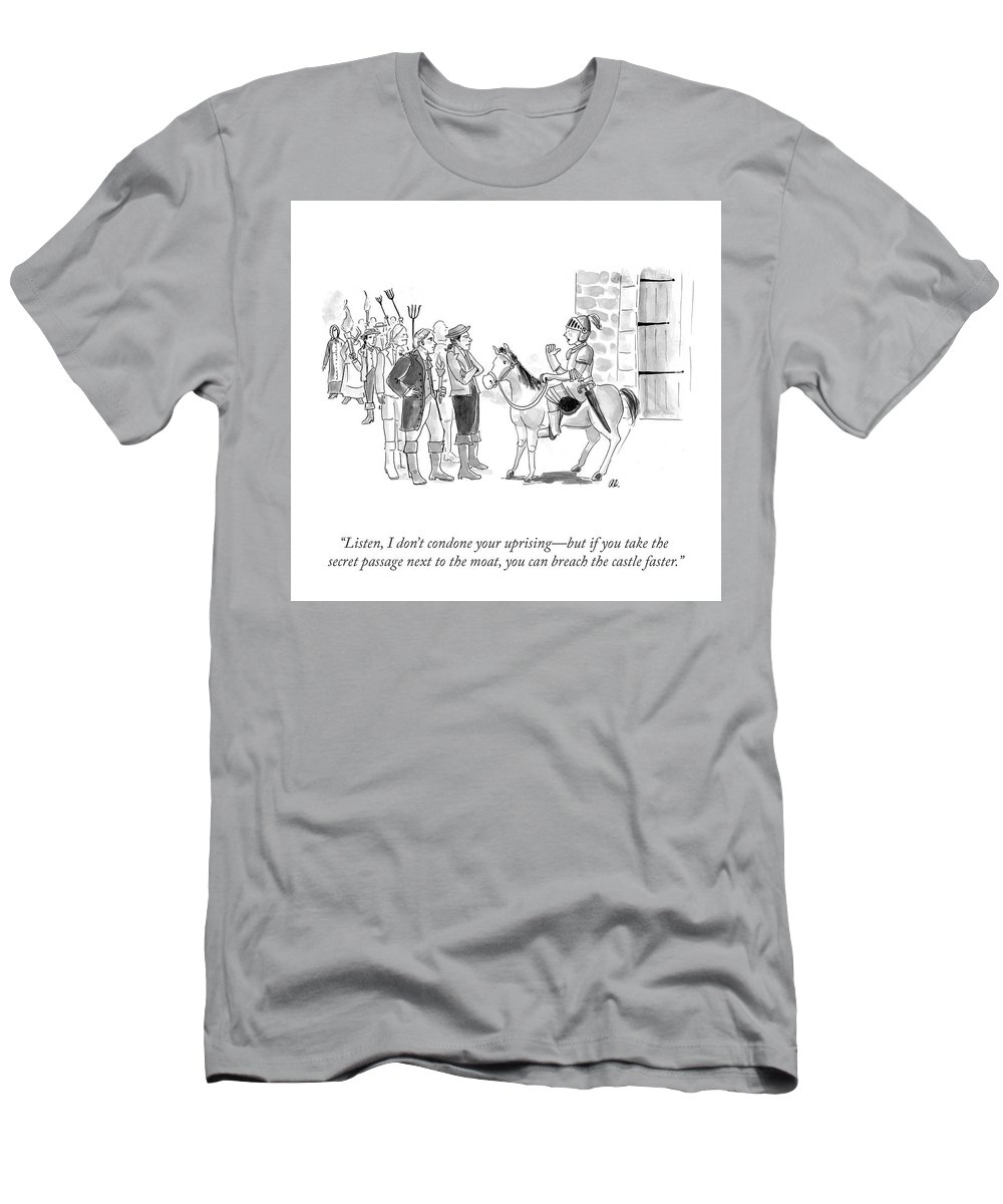 """listen T-Shirt featuring the drawing Breaching The Castle by Ali Solomon"