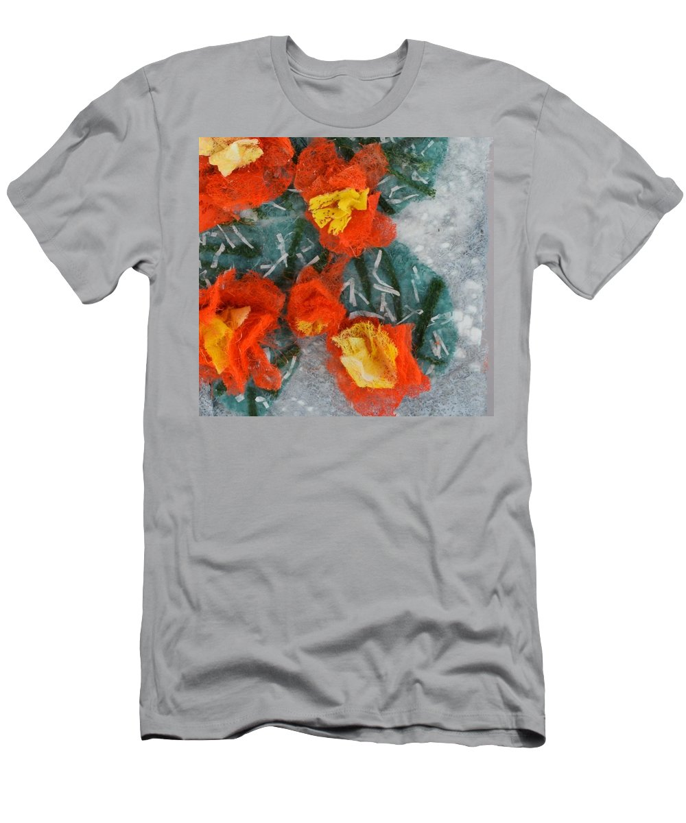 Dryer Sheets T-Shirt featuring the mixed media Cactus Flowers by Charla Van Vlack